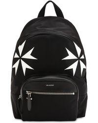 Neil Barrett - Patch Stars Nylon & Leather Backpack - Lyst