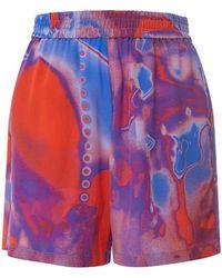 McQ Shorts In Seta Stampata - Multicolore