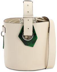 Ganni グレインレザーバケットバッグ - マルチカラー