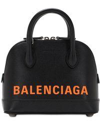 """Balenciaga Tasche Aus Narbleder """"xxs Ville Aj"""" - Schwarz"""