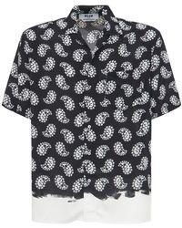 MSGM プリントビスコースシャツ - マルチカラー