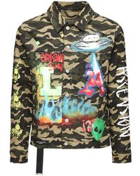 Lifted Anchors Starlight Cotton Blend Camo Jacket - Multicolour