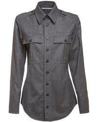 Stella McCartney ウールフランネルシャツ - グレー