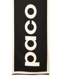 Paco Rabanne ウールストール - ブラック