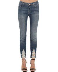 "J Brand Jeans Skinny ""Maude"" In Denim Stretch - Blu"
