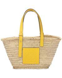 Loewe Плетеная Сумка Из Соломы - Желтый