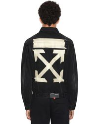 Off-White c/o Virgil Abloh Tape Arrows Slim Denim Jean Jacket - Black