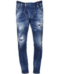 DSquared² 16cm Jeans Aus Stretch-denim Im Skater Fit - Blau