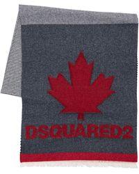 DSquared² Strickschal Aus Wolle - Mehrfarbig