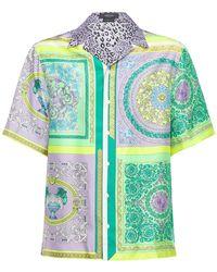Versace Printed Fluid Silk Shirt - Multicolour