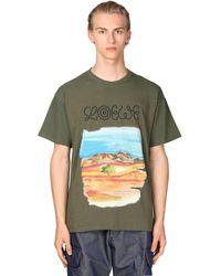 Loewe Eye//nature コットンジャージーtシャツ - グリーン