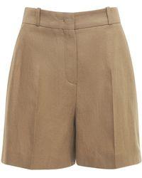 Loro Piana Linen Crepe Bermuda Shorts - Natural