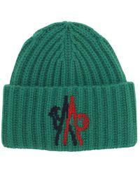 Moncler Genius ウールニットビーニー帽 - グリーン