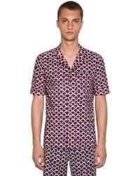 Valentino - Printed Bowling Shirt - Lyst