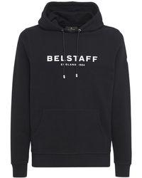 Belstaff コットンスウェットフーディ - ブラック