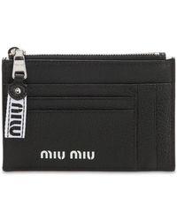Miu Miu Brieftasche Aus Leder - Schwarz