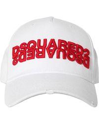 DSquared² Bestickte Baseballkappe - Weiß