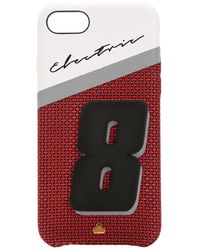 Chaos Iphone 7/8-cover Aus Leder Mit Druck - Rot