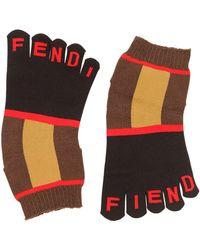 Fendi Logo Intarsia Toe Socks - Multicolor