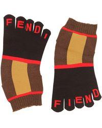 Fendi Socken Mit Logointarsien - Mehrfarbig