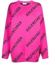 Balenciaga コットンブレンドニットセーター - ピンク