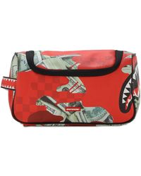 Sprayground Panic Attack Toiletry Bag - Red