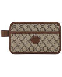 Gucci Mini Tasche Aus Technocanvas Mit Gg-motiv - Natur