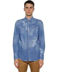 DSquared² Westernhemd Aus Baumwolldenim