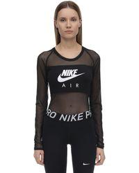 "Nike Body Aus Stretch-nylonmesh ""nsw Air"" - Schwarz"