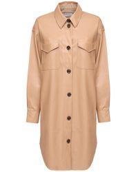 Designers Remix Marie エコレザーシャツドレス - ナチュラル