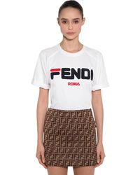 Fendi Mania ジャージーtシャツ - ホワイト
