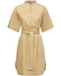 Burberry Платье Из Хлопкового Канваса Abbie - Естественный