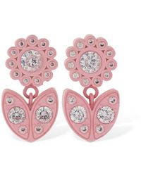 Bottega Veneta Flower Drop Earrings - Pink