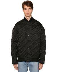 Balenciaga Стеганая Куртка-бомбер С Логотипом - Черный