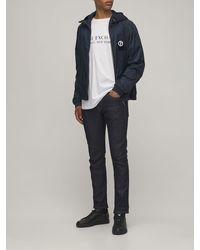 Giorgio Armani Куртка С Логотипом Из Нейлона - Синий