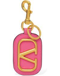 Valentino Garavani Valentino garavani schlüsselhalter mit logo - Pink