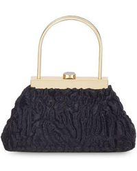 Cult Gaia Estelle Mini Faux Fur Top Handle Bag - Black