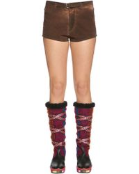 Etro - Brushed Cotton Shorts - Lyst