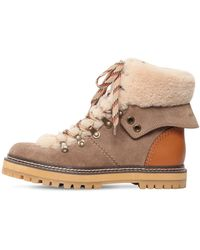 See By Chloé Shearling Trek Boots - Multicolour
