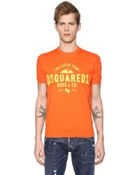 DSquared² - Caten Peak Print Cotton Jersey T-shirt - Lyst