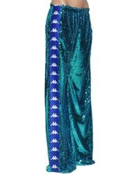 Faith Connexion - Kappa Sequined Wide Leg Track Pants - Lyst