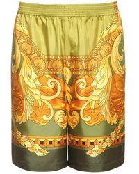 Versace Medusa Renaissance Print Silk Shorts - Multicolour