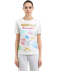 Boutique Moschino - Printed Cotton T-shirt - Lyst
