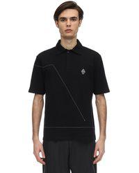 A_COLD_WALL* Рубашка-поло С Декоративной Строчкой - Черный
