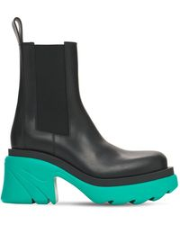 Bottega Veneta 95mm Flash Leather Chelsea Boots - Black