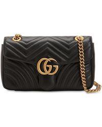 Gucci Gg Marmont 2.0 スモール レザーバッグ - ブラック
