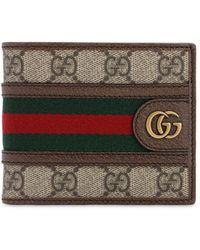 Gucci Бумажник Ophidia GG - Коричневый