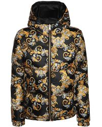 Versace Jeans Couture Printed Nylon Down Jacket - Black