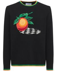 CASABLANCA Orange コットンニットセーター - ブラック