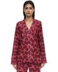 Derek Rose Ledbury Batiste Long Cotton Pajama Set - Multicolor